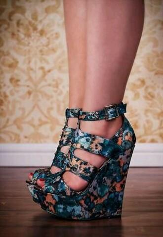 shoes shoes heels wedges mint blue pastel cute blue shoes blue high heels
