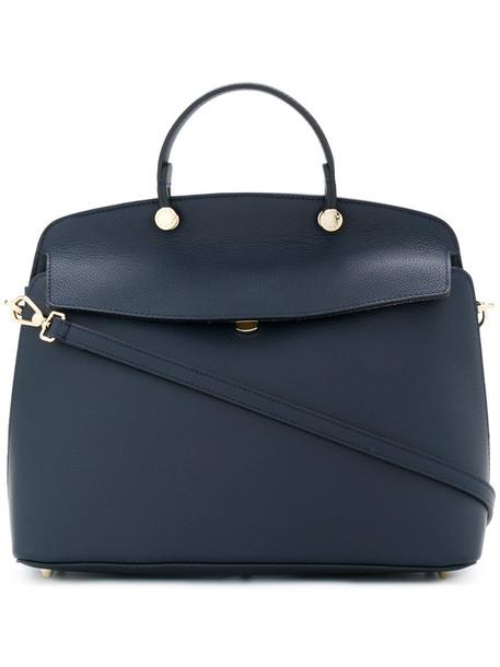 Furla women leather blue bag