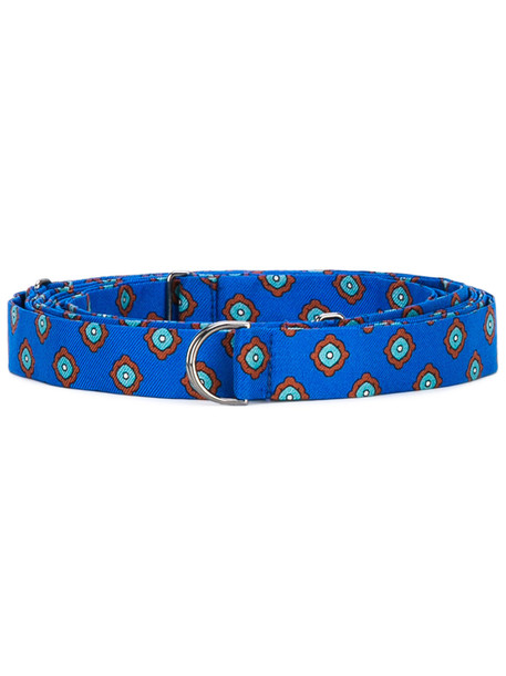 embroidered belt blue