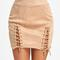 Charlie lace up skirt - apricot