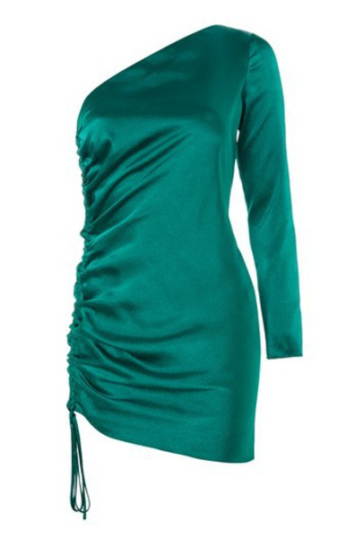 dress bodycon bodycon dress mini green satin