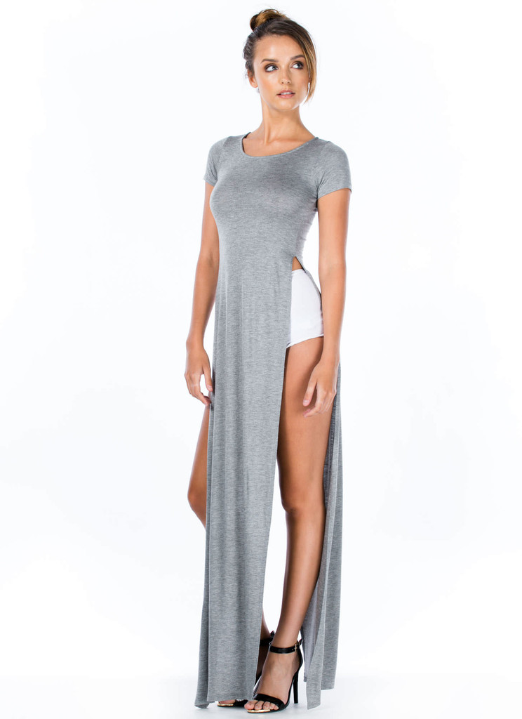 """""""trendy betch"""" side cut maxi tee (4 colors available) – glamzelle"""