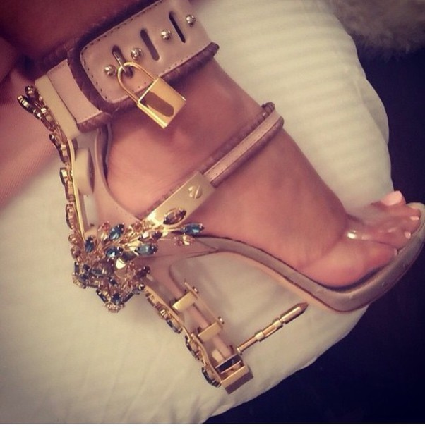 dsquared gold heels