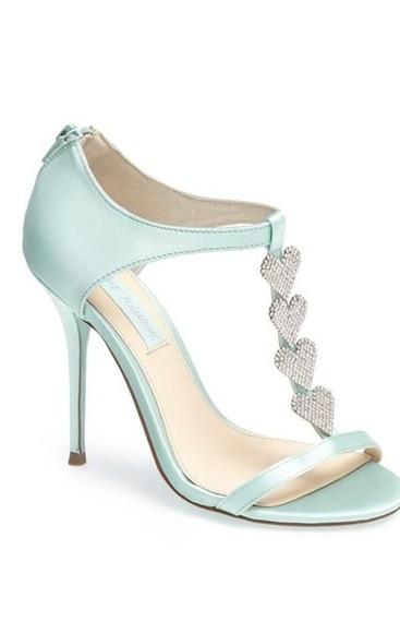 hearts shoes mint high heels