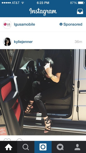 shoes kylie jenner black heels