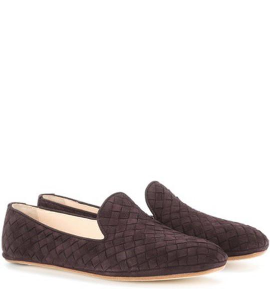 Bottega Veneta loafers suede brown shoes