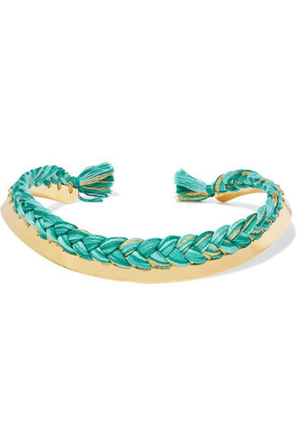 braided gold cotton jewels