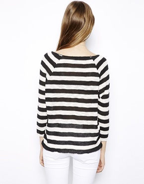 Mango | Mango Striped Knitted Top at ASOS