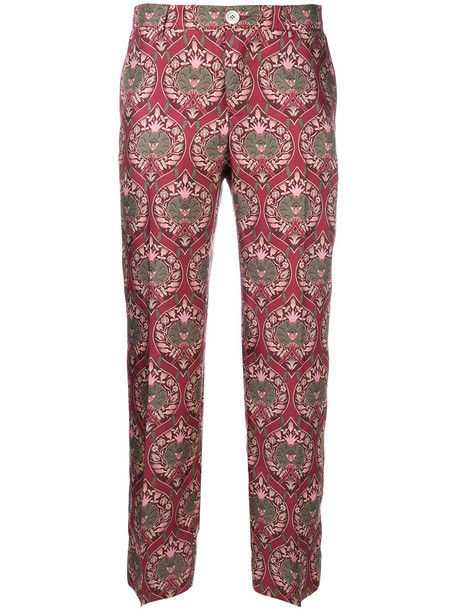 F.R.S For Restless Sleepers cropped women silk red pants