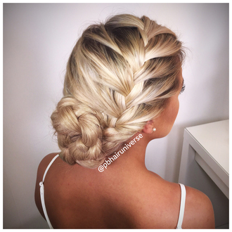 hair accessory blonde hair plait hairextensions weft