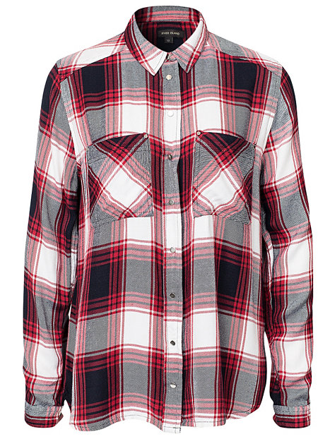Ls check shirt, river island