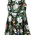 ROMWE | ROMWE Floral Print Doll Collar Sleeveless Pleated Dress, The Latest Street Fashion