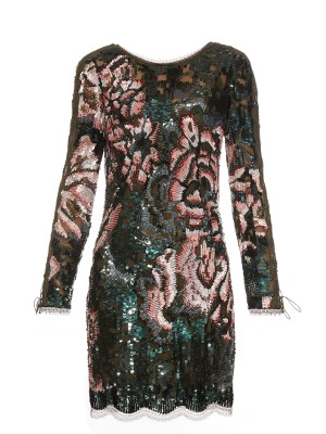 Long-sleeved sequin-embellished mini dress | Roberto Cavalli | MATCHESFASHION.COM US