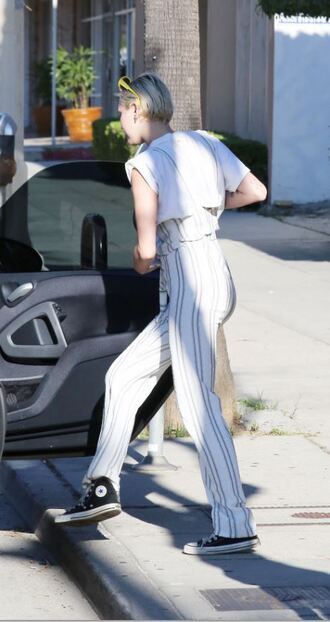 shoes sneakers pants miley cyrus jumpsuit