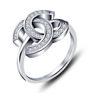 Ring size 6.5 wedding c ring .342 ct white diamond 14k solid gold filled