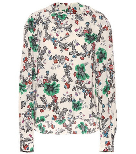Isabel Marant Clare stretch silk blouse