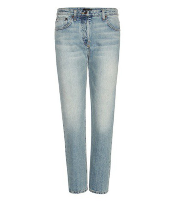 The Row Ashlands Cropped Straight Jeans in blue