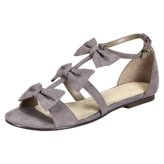 bows grey shoes