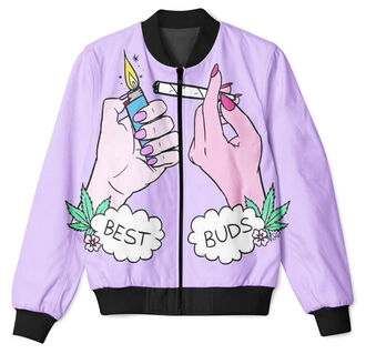 cardigan weed summer trendy fashion style purple lilac long sleeves ogvibes bomber jacket