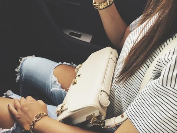 mariniere jeans jewels bag