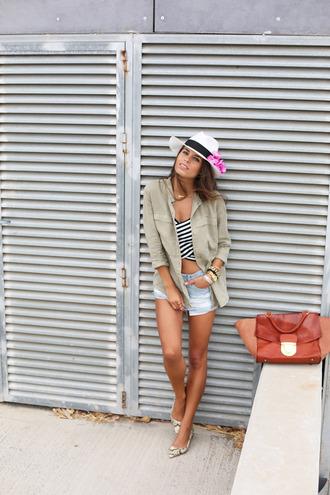seams for a desire blogger top bag jewels stripes crop tops
