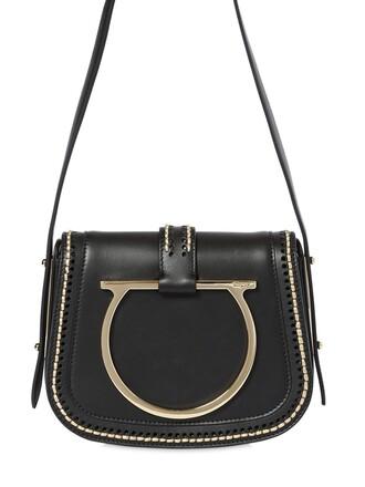 bag leather bag gold leather black