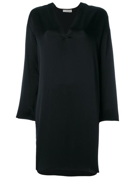 Vince dress tunic dress women black silk
