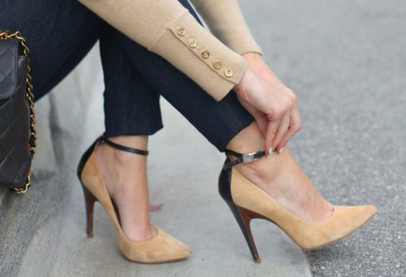 beige shoes shoes high heels style cool swag clothes nails fashion,bone,shoes,heels,ankle boots, high heel,celebrity heels, fashion cool girl style swag girl clothes sexy-sweaters nails polish