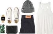 hat,beani,boyfriend,acne studios,t-shirt,white,black jeans,white tee,jeans