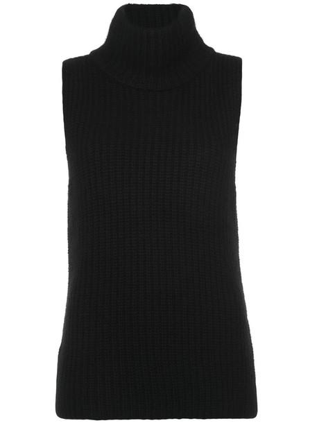 Novis jumper sleeveless women black wool sweater