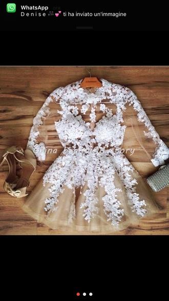 lace dress white lace dress white dress sheer see through dress date outfit homecoming dress homecoming tulle dress short prom dress white prom dress bridesmaid short wedding dress