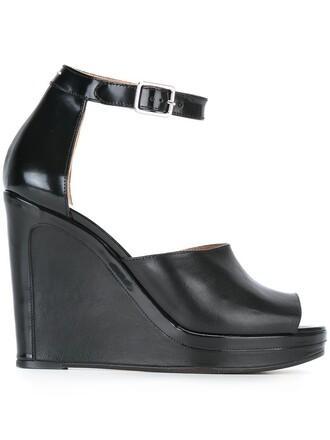 ankle strap sandals wedge sandals black shoes