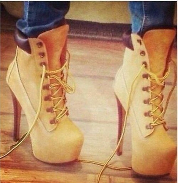where can i get timberland heels boots