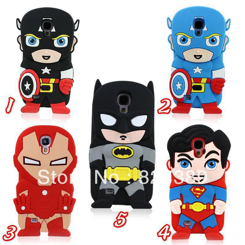 For galaxy s4 case batman iron man super hero rubber silicon cell phon cases covers to samsung i9500 S IV free shipping-in Phone Bags & Cases from Phones & Telecommunications on Aliexpress.com