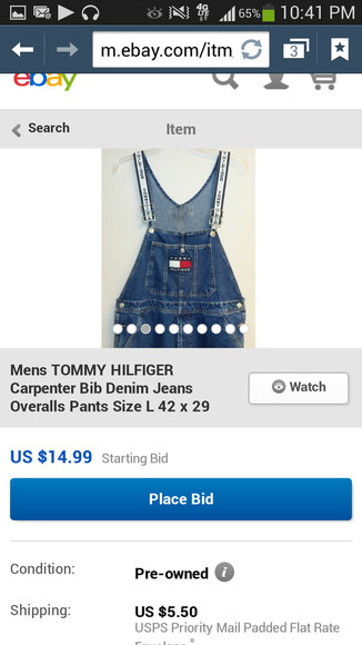 overalls denim jeans tommy hilfiger jumpers