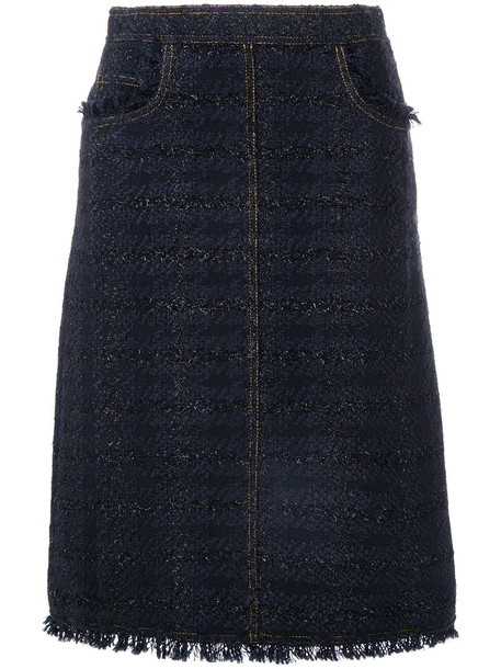 Tory Burch skirt women black wool