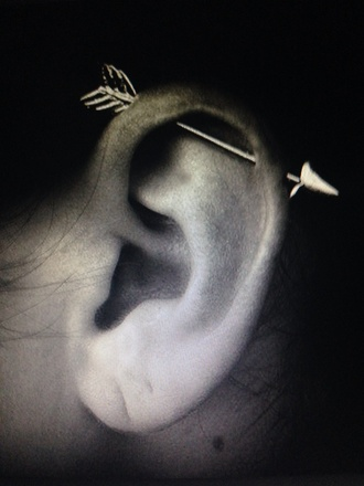 jewels earrings cartilage arrow jewelry