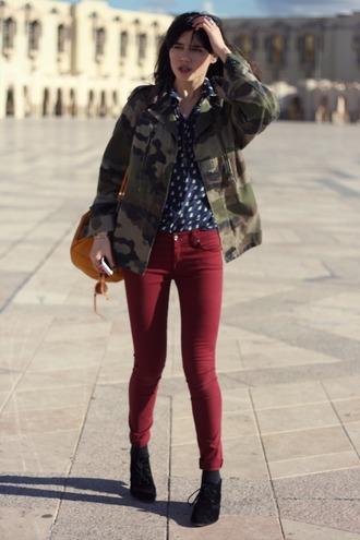 shoes blouse jeans jewels jacket natalie off duty
