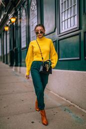 not jess fashion,blogger,sweater,pants,bag,shoes,sunglasses