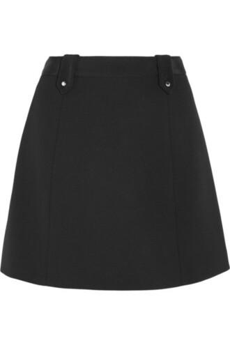 skirt mini skirt mini black wool