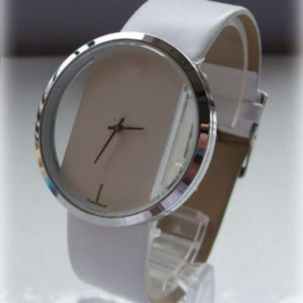 jewels watch white quartz
