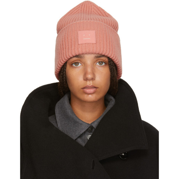 Acne Studios Pink Pansy N Face Beanie