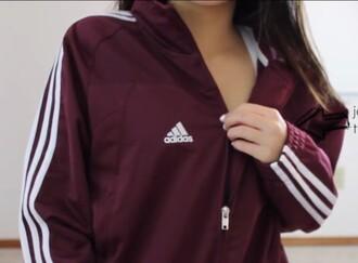 jacket adidas track jacket burgundy white adidas jacket sports jacket burgundy jacket adidas track jacket windbreaker coat maroon adidas jacket adias