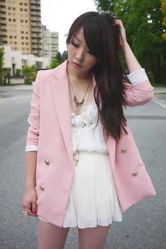 ivy pink spider blazer pink jacket