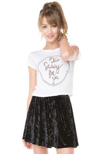 Brandy ♥ Melville |  Too Sassy For You Top - Clothing on Wanelo
