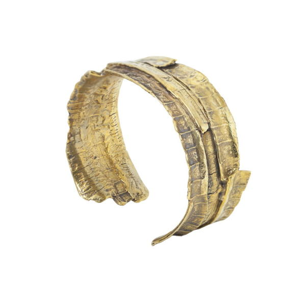 BARK bronze cuff bracelet | Linda Friedrich Jewelry