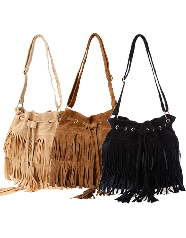 Duo Fringe Shoulder Bag Outfit Made
