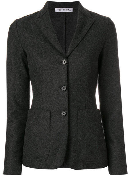 blazer women cotton wool grey jacket