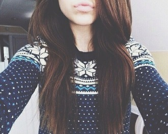 sweater pullover christmas sweater christmas hairstyles girly girl aztec sweater