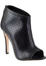 Alice   Olivia Gerri Bootie Black Leather  - Jildor Shoes, Since 1949